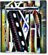 Trestle Detail Black White Grey Canvas Print