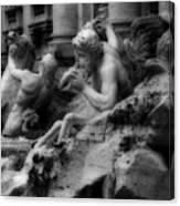 Trevi Fountain Detail 2 Canvas Print