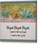Tri Bike Bicycle Races Canvas Print