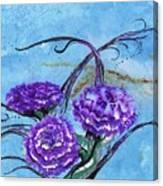 Tri  Flower Bleau Canvas Print