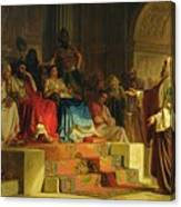 Trial Of The Apostle Paul Canvas Print