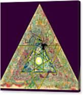 Triangle Triptych 3 Canvas Print