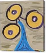 Triangular Blue Canvas Print