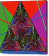 Triangular Thoughts Canvas Print