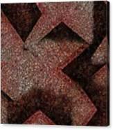 Triangulated Circles Canvas Print