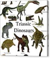 Triassic Dinosaurs Canvas Print