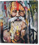 Tribal Chief Sadhu Canvas Print