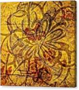 Tribal Flower Canvas Print