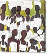 Tribal Girls Canvas Print