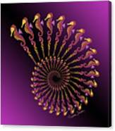Tribal Seahorse Spiral Shell Canvas Print
