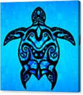 Tribal Turtle Hibiscus Canvas Print
