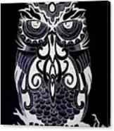 Tribeowl Reverse Canvas Print