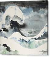 Tribute To Hokusai Canvas Print