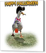 Trick Or Treat For Cap'n Duck Canvas Print
