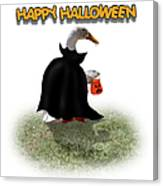Trick Or Treat For Count Duckula Canvas Print