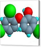 Triclosan Molecule Canvas Print