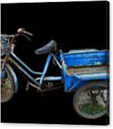 Tricycle In Blue Canvas Print