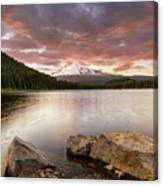 Trillium Lake Sunset Canvas Print