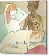Trio Mocha Canvas Print