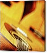 Trio Of Acoustic Guitars Canvas Print