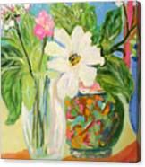Trio Of Vases Canvas Print