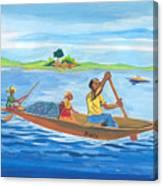 Trip To Lake Kivu In Congo Canvas Print