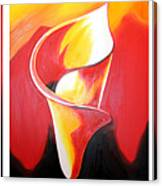Triple Lily Paintings Canvas Print