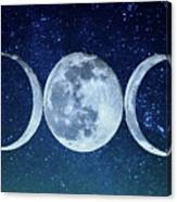 Triple Moon Milkyway Canvas Print