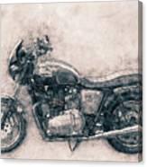Triumph Bonneville - Standard Motorcycle - 1959 - Motorcycle Poster - Automotive Art Canvas Print