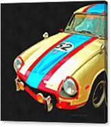 Triumph Gt Pop Art Canvas Print