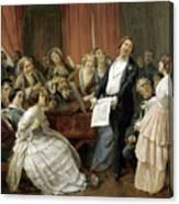 Triumph Of A Tenor At A Musical Matinee Canvas Print