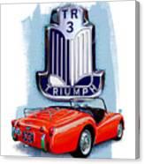 Triumph Tr-3 Red Canvas Print