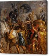 Triumphal Entry Of Henry Iv In Paris Canvas Print