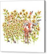 Trivia Too A Texas Longhorn Sunflowers Lh072 Canvas Print