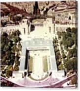 Trocadero Palais De Chaillot 1955 Canvas Print