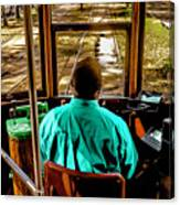 Trolley Driver In New Orleans Canvas Print