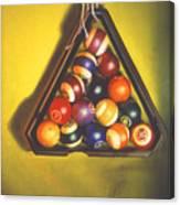 Billiard Balls Tromp'ole Canvas Print