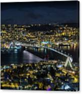 Tromso By Night Canvas Print