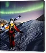Tromso Winter Skiing Canvas Print