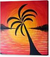 Tropic Of Palms Canvas Print