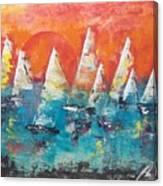 Tropic Sails Canvas Print