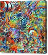 Tropical Beach Art - Under The Sea - Sharon Cummings Canvas Print