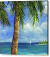 Tropical Beach One Canvas Print