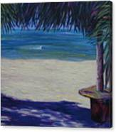 Tropical Beach Shadows Canvas Print