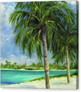 Tropical Beach Two Canvas Print