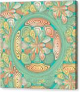 Tropical Color Abstract Canvas Print