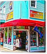 Tropical Corner Key West Florida Canvas Print