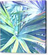 Tropical Dreams In Pastel Purple-blue Canvas Print