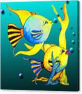 Tropical Fish Fun Canvas Print