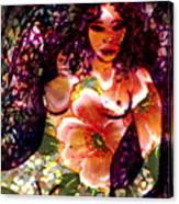 Tropical Flower Girl Canvas Print